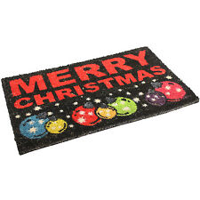 40x68cm Merry Christmas Xmas Heavy Duty PVC Backed Coir Indoor Outdoor Door Mat