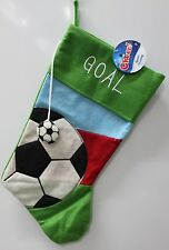 "SOCCER 19"" CHRISTMAS STOCKING Sports Holiday Decoration Boys Child Kids Goal NEW"