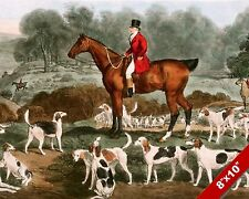 ENGLISHMAN FOX HUNT HORSE FOXHUNTING HUNTING ART PAINTING REAL CANVAS PRINT
