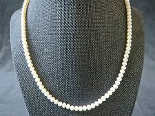 14kt Gold Clasp IWI 5mm Pearl Necklace 15.7 Grams 18""