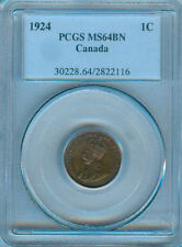 1924 CANADA SMALL CENT PCGS MS-64 BN