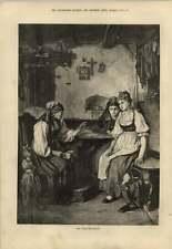 1879 Charming Artwork Fortune Teller Using Cards