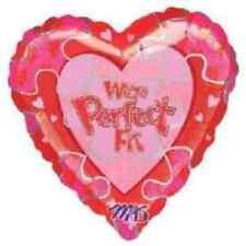 """Anagram somos un ajuste perfecto feliz día de San Valentín Corazón Aluminio Globo De Helio 18"""""""