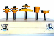 5 pc Ogee Raised Panel w/ Back Cutter & Ogee Rail & Still Router Bit Set sct 888