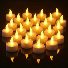 48 Flameless Battery Operated LED Tea Lights Amber Tealight Candles