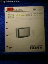 Sony Service Manual KV 21C1D /B /E /K /R Color TV (#3395)
