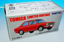 TOMYTEC TOMICA LIMITED VINTAGE LV-55b TOYOTA COROLLA 1100 2DOOR S=1/64 New!