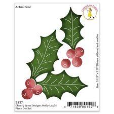 """Cheery Lynn Designs Die ~ Holly Leaf, 1.125"""" To 3.125"""" CLB837 ~ NIP"""