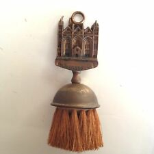 CLOTHES BRUSH PETERBOROUGH CATHEDRAL UK ENGLAND BRASS HANGER WITH WOOD 19714
