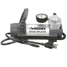 Husky Portable Electric 120 Volt Inflator AIR COMPRESSOR Pump for Tire-Bike-Bed