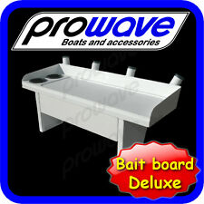 Bait board with rod holders and large drawer