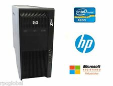 HP Z800 Workstation 2x Six Core L5638 2GHz 32GB RAM 2TB HD NVIDIA Win 10 Pro