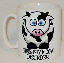 Obsessive Cow Disorder Mug Can Be Personalised Funny Animal Lover Farm OCD Gift