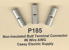 10 Non Insulated BUTT Terminals Connectors Uninsulated #6 Wire Gauge AWG MOLEX