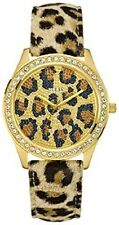 New Authentic GUESS Watch, Women's Animal Print Leather Strap 40mm U85109L1  NWT