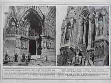 1914 DESECRATION OF RHEIMS CATHEDRAL WWI WW1
