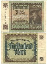 IT_Germany-5000 Mark-1922/Portr. at right