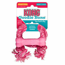 KONG Puppy X-SMALL Goodie Bone with Rope Chew Treat Dog Toy (KP51)