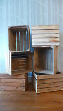 12 amazing solid vintage wooden apple crates boxes - ground and cleaned!