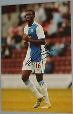 Amine Linganzi signed photo (Blackburn)