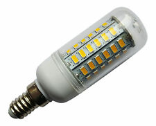 E14 SES 56 SMD LED 5730 240V 12W 800LM WARM WHITE BULB WITH COVER ~60W
