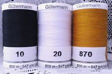 3 NEW Different colors GUTERMANN 100% polyester Sew-all thread 547 yards Spools