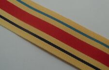Africa Star Full Size Medal Ribbon, Army, Military, 1940-43, North Africa, 10""