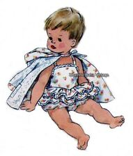 Vintage 1950s SEWING PATTERN Toddler Baby Romper Swim Suit Beach Coat Size 1-2