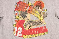 Court Magician Basketball Wizadry L Crop Top Sweatshirt Vintage NBA NCAA B-Ball