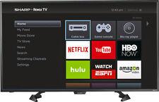 """Sharp - 43"""" Class (42.5"""" Diag.) - LED - 1080p - Smart - HDTV - Roku TV - Black"""