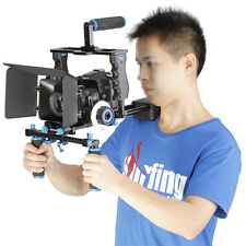 Neewer Aluminum Film Movie Kit System Rig Cage Grip Follow Focus for Canon Nikon