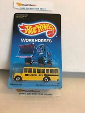 #1 School Bus 1795 * 1988 Malaysia * Vintage Hot Wheels * Y2