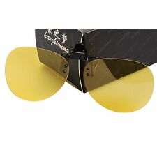UV400 HD Night Vision Polarized Driving Clip-on Flip-up Lens Sunglasses Glasses