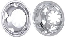 "2008-2010 GMC CHEVY 17"" WHEEL SIMULATORS LINERS HUBCAPS CHROME STAINLESS STEEL"