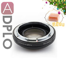 Gift Optical Focal Reducer Speed Booster adapter Canon FD Lens to Micro 4/3 GF7