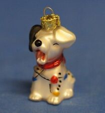 101 Dalmatian Puppy Blown Glass Christmas Ornament Figurine Disney Dog