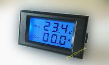 DC 200V +-300A Digital Voltmeter Ammeter Blue LCD Voltage Tester Current Monitor