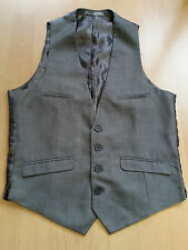 D646 MENS BUTLER & WEBB LIGHT GREY 4 POCKET SMART CASUAL WAISTCOAT XS 34""