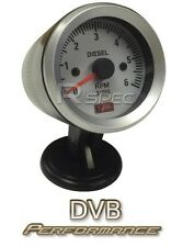 52mm White face Car Van Off Road 4x4 Diesel Rev Gauge Counter Tacho