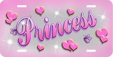 Pink Hearts Butterflies Auto License Plate Personalize Gifts Ladies Girls Name