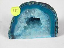 AG135 Large Agate Crystal Hollow Green Geode Great Gift Home Art Décor 503g