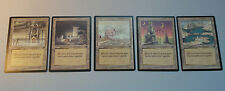 5 Banding Legends Lands Unholy Quay Guildhouse Serra Stronghold EX to NM - MTG