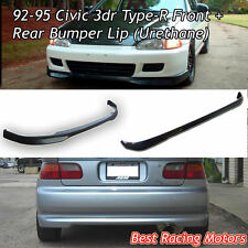 TR Style Front + TR Style Rear Lip (Urethane) Fits 92-95 Honda Civic 3dr
