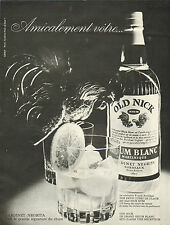 Publicité Advertising 1963  RHUM BLANC OLD NICK  bardinet negrita bordeaux