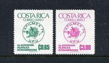 Costa Rica C594-C595, MNH. UPU, cent. Emblem, 1974. x22194