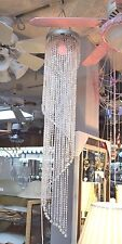 """NEW BEADED HANGING Ceiling LIGHT Fixture LAMP 48"""" Electric 8"""" Dia GIRL'S ROOM"""