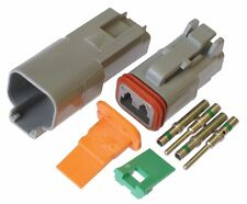Deutsch DT 2 Pin Connector Kit 16-20 AWG w/ Solid Nickle Contacts