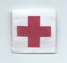Red Cross clothing tag or patch 1-1/4 X 1-3/8  small size   #41