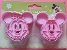 2X 3D Mickey Mouse Fondant Cake Baking Biscit Cookie Cutter Cartoon Mold