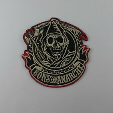 LOT 2 PCS SONS OF ANARCHY SKULL EMBROIDERED SEW IRON ON PATCH BIKER T-SHIRT